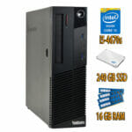 Lenovo ThinkCentre M83 SFF i5-4670s @3,1GHz, 16GB Arbeitsspeicher, 240GB SSD, Windows 10 PRO